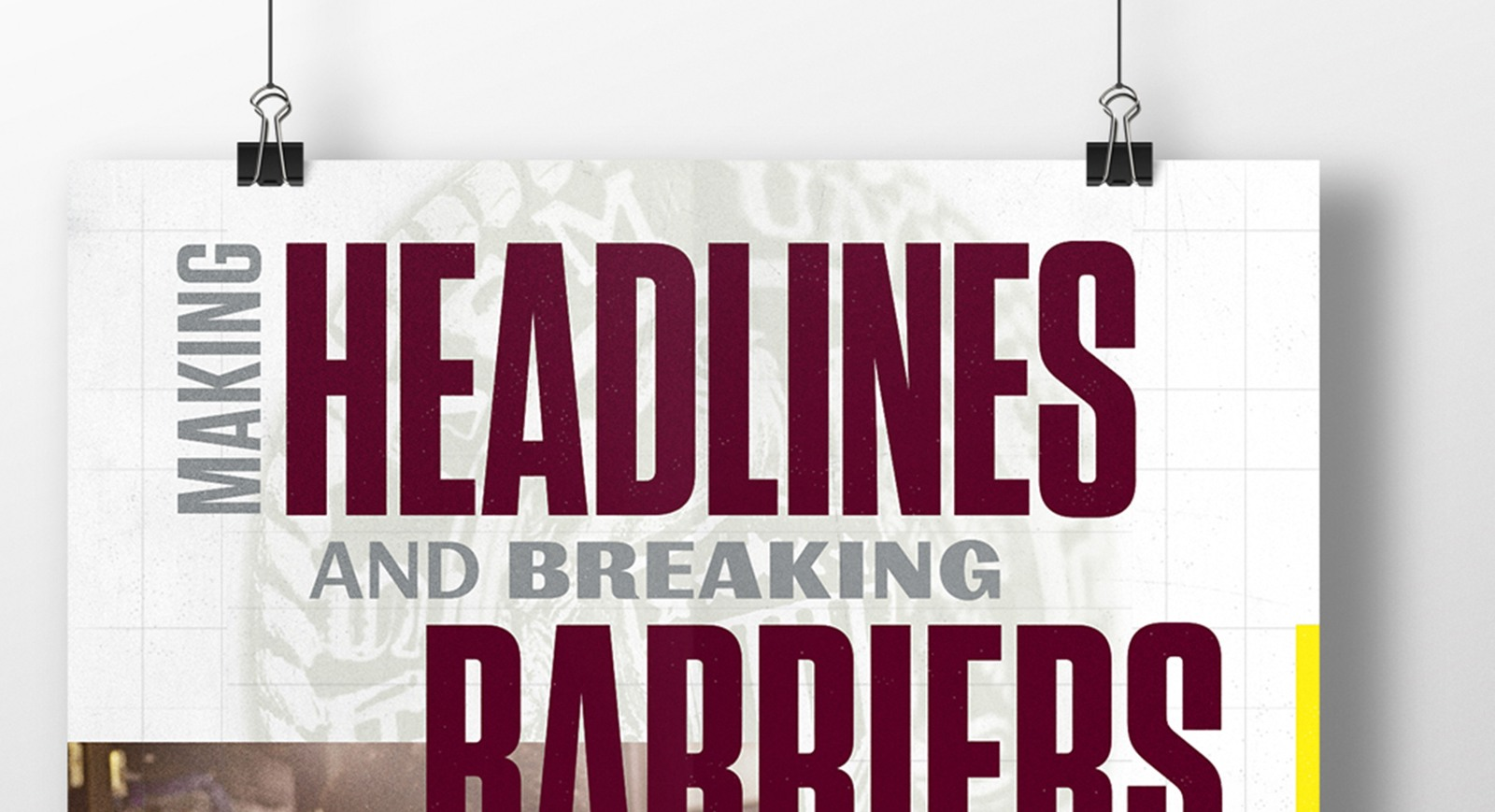 A sign that says: Making Headlines and Breaking Barriers