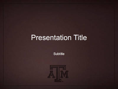 Presentation Templates University Brand Guide Texas A M University